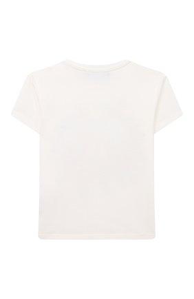 Детский хлопковая футболка VERSACE белого цвета, арт. 1000152/1A00120 | Фото 2