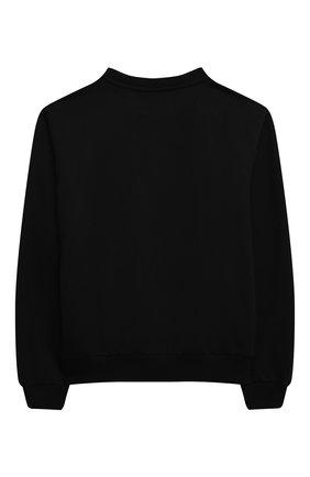 Детский хлопковый свитшот VERSACE черного цвета, арт. 1000349/1A00289/8A-14A | Фото 2