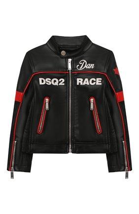 Детского куртка DSQUARED2 черного цвета, арт. DQ0064-D00XJ | Фото 1