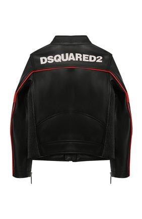 Детского куртка DSQUARED2 черного цвета, арт. DQ0064-D00XJ | Фото 2
