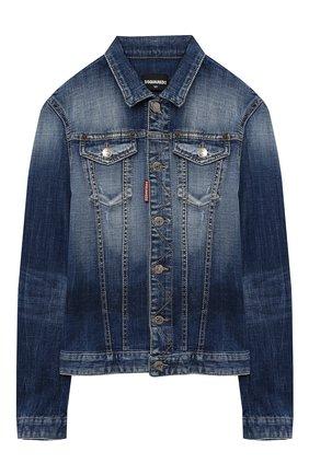 Детского джинсовая куртка DSQUARED2 синего цвета, арт. DQ01GT-D005F | Фото 1