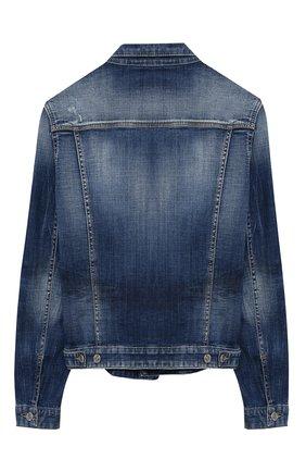 Детского джинсовая куртка DSQUARED2 синего цвета, арт. DQ01GT-D005F | Фото 2