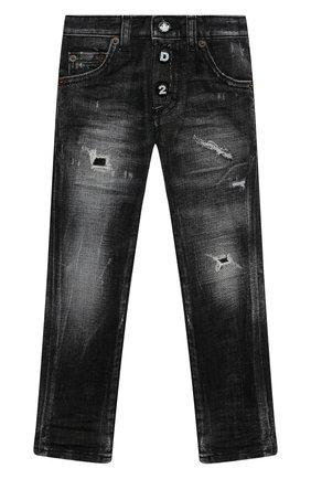Детские джинсы DSQUARED2 черного цвета, арт. DQ0234-D004Z | Фото 1