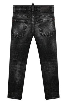 Детские джинсы DSQUARED2 черного цвета, арт. DQ0234-D004Z | Фото 2
