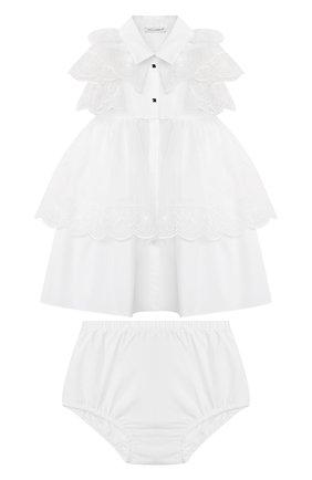 Женский комплект из платья и шорт DOLCE & GABBANA белого цвета, арт. L22DQ9/G7XUG | Фото 1
