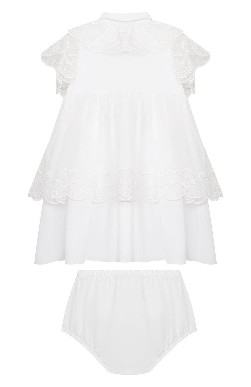 Женский комплект из платья и шорт DOLCE & GABBANA белого цвета, арт. L22DQ9/G7XUG   Фото 2