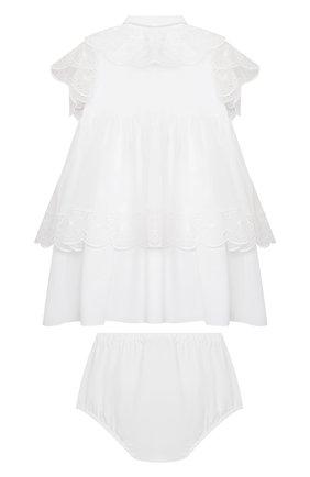 Женский комплект из платья и шорт DOLCE & GABBANA белого цвета, арт. L22DQ9/G7XUG | Фото 2