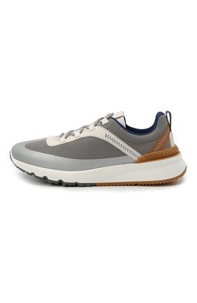 Мужские комбинированные кроссовки BRUNELLO CUCINELLI серого цвета, арт. MZUTBH0255   Фото 3