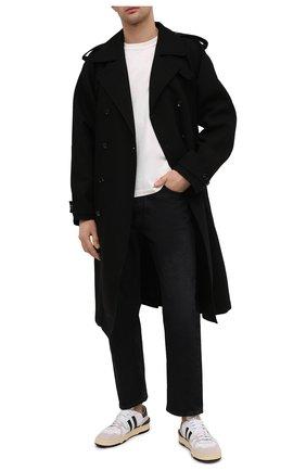 Мужские комбинированные кеды LANVIN черно-белого цвета, арт. FM-SKDK00-NAS1-P21 | Фото 2