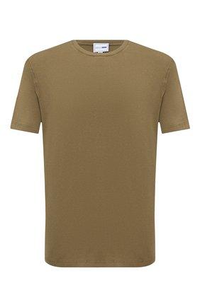Мужская хлопковая футболка ZILLI SPORT хаки цвета, арт. MFU-13075-447782/0020 | Фото 1