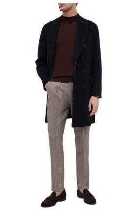Мужские замшевые лоферы SANTONI темно-коричневого цвета, арт. MCCL17111RG1IR0VT50 | Фото 2 (Материал внутренний: Натуральная кожа; Мужское Кросс-КТ: Лоферы-обувь; Стили: Классический; Материал внешний: Замша)
