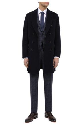 Мужские кожаные дерби SANTONI темно-коричневого цвета, арт. MCCR17633JC6I0BRT53 | Фото 2 (Материал внутренний: Натуральная кожа; Стили: Классический)