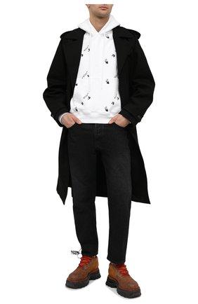 Мужской хлопковое худи OFF-WHITE белого цвета, арт. 0MBB037R21FLE008 | Фото 2