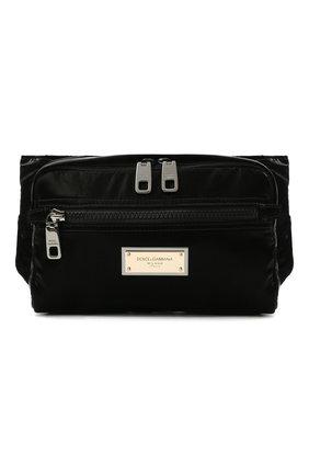 Мужская поясная сумка nero sicilia dna DOLCE & GABBANA черного цвета, арт. BM1967/A0243 | Фото 1