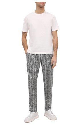 Мужские шелковые брюки DOLCE & GABBANA серого цвета, арт. GYB0HT/IS1HB | Фото 2