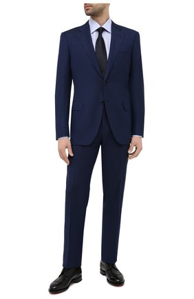 Мужская сорочка из хлопка и льна CANALI голубого цвета, арт. 705/GA01860 | Фото 2
