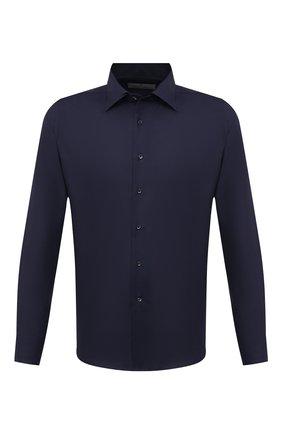 Мужская хлопковая сорочка CANALI синего цвета, арт. 705/GD02301 | Фото 1 (Случай: Формальный; Длина (для топов): Стандартные; Принт: Однотонные; Материал внешний: Хлопок; Рубашки М: Regular Fit; Рукава: Длинные; Воротник: Кент; Манжеты: На пуговицах; Стили: Классический)