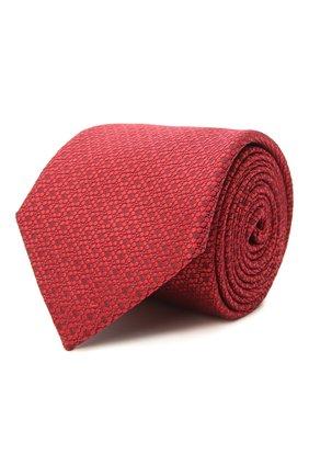 Мужской шелковый галстук CANALI красного цвета, арт. 18/HJ03119 | Фото 1