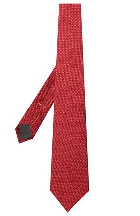 Мужской шелковый галстук CANALI красного цвета, арт. 18/HJ03119 | Фото 2
