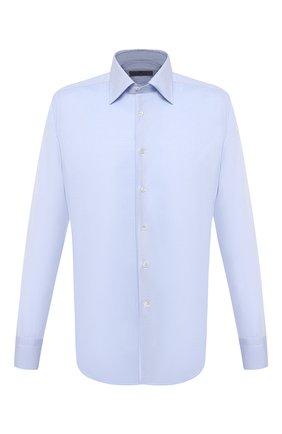 Мужская хлопковая сорочка CANALI голубого цвета, арт. 705/GA01243 | Фото 1