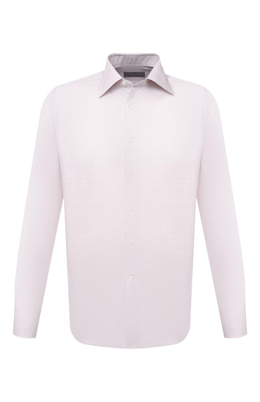 Мужская сорочка из хлопка и льна CANALI бежевого цвета, арт. 705/GA01860   Фото 1