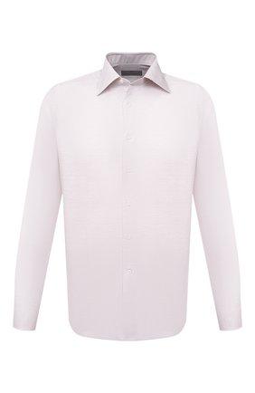 Мужская сорочка из хлопка и льна CANALI бежевого цвета, арт. 705/GA01860 | Фото 1