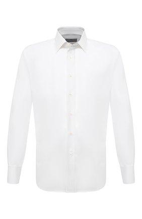 Мужская хлопковая сорочка CANALI белого цвета, арт. N705/GR01599/P | Фото 1