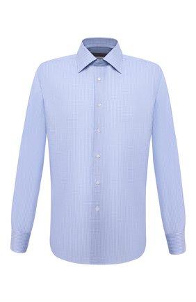 Мужская хлопковая сорочка CANALI голубого цвета, арт. N705/GR01832 | Фото 1