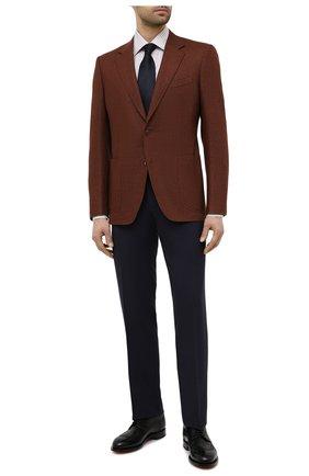 Мужская сорочка из хлопка и льна CANALI хаки цвета, арт. N705/GR02297   Фото 2