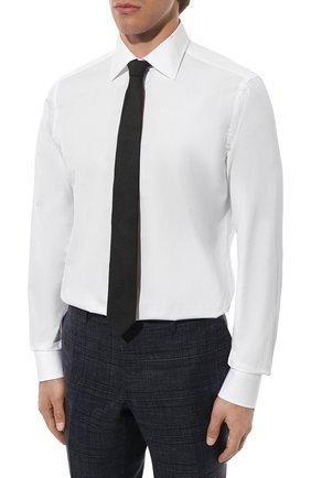 Мужская хлопковая сорочка CANALI белого цвета, арт. X05/GA60130 | Фото 3