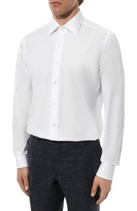 Мужская хлопковая сорочка CANALI белого цвета, арт. X05/GA60130 | Фото 4