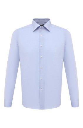 Мужская хлопковая сорочка CANALI голубого цвета, арт. X05/GA60130   Фото 1