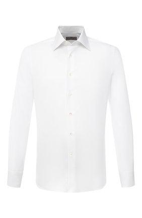 Мужская хлопковая сорочка CANALI белого цвета, арт. X05/GD02269 | Фото 1