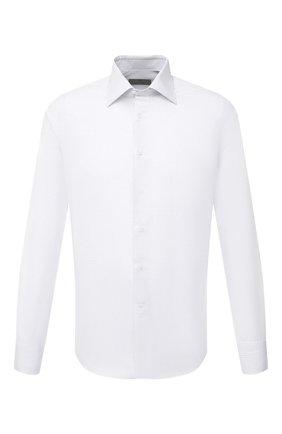 Мужская хлопковая сорочка CANALI белого цвета, арт. X05/GD02278 | Фото 1