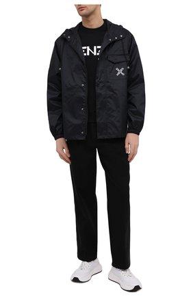Мужская куртка kenzo sport KENZO черного цвета, арт. FB55BL5601NJ   Фото 2