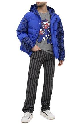Мужская хлопковая футболка kenzo x kansai yamamoto KENZO серого цвета, арт. FB55TS0714SJ | Фото 2 (Принт: С принтом; Рукава: Короткие; Стили: Гранж; Материал внешний: Хлопок; Длина (для топов): Стандартные)