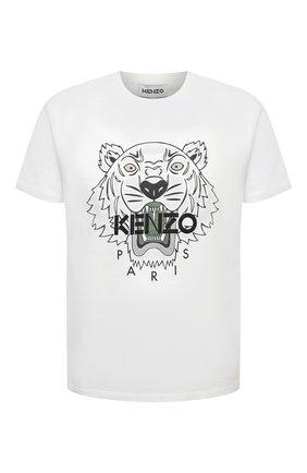 Мужская хлопковая футболка KENZO белого цвета, арт. FB55TS0204YA | Фото 1