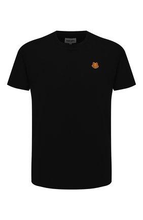 Мужская хлопковая футболка KENZO черного цвета, арт. FB55TS0034SA | Фото 1
