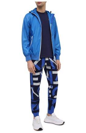 Мужская хлопковая футболка KENZO синего цвета, арт. FB55TS0034SA | Фото 2