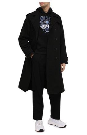 Мужской хлопковое худи KENZO черного цвета, арт. FB55SW3104XA | Фото 2