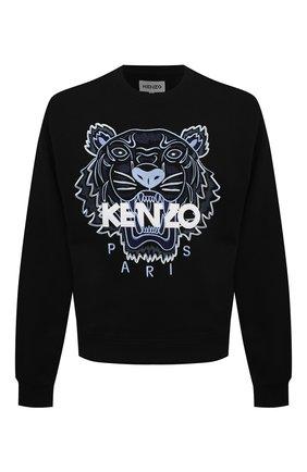 Мужской хлопковый свитшот KENZO черного цвета, арт. FB55SW1104XA | Фото 1