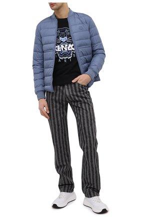 Мужской хлопковый свитшот KENZO черного цвета, арт. FB55SW1104XA | Фото 2