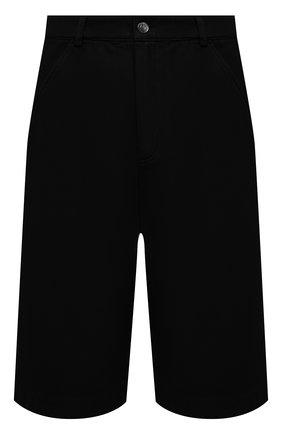 Мужские хлопковые шорты KENZO черного цвета, арт. FB55SH2125AA | Фото 1 (Длина Шорты М: Ниже колена; Принт: Без принта; Стили: Кэжуэл; Материал внешний: Хлопок; Мужское Кросс-КТ: Шорты-одежда)