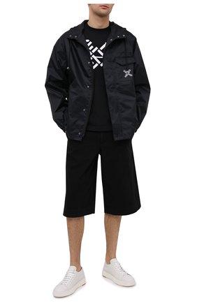 Мужские хлопковые шорты KENZO черного цвета, арт. FB55SH2125AA   Фото 2