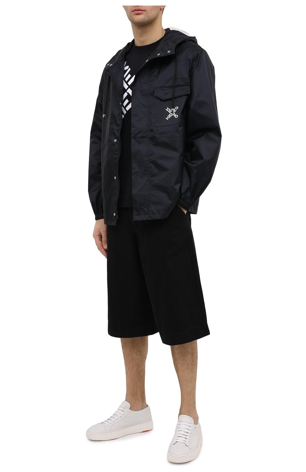 Мужская хлопковая футболка kenzo sport KENZO черного цвета, арт. FA65TS5024SJ | Фото 2 (Рукава: Короткие; Длина (для топов): Стандартные; Стили: Гранж, Спорт-шик; Принт: С принтом; Материал внешний: Хлопок)