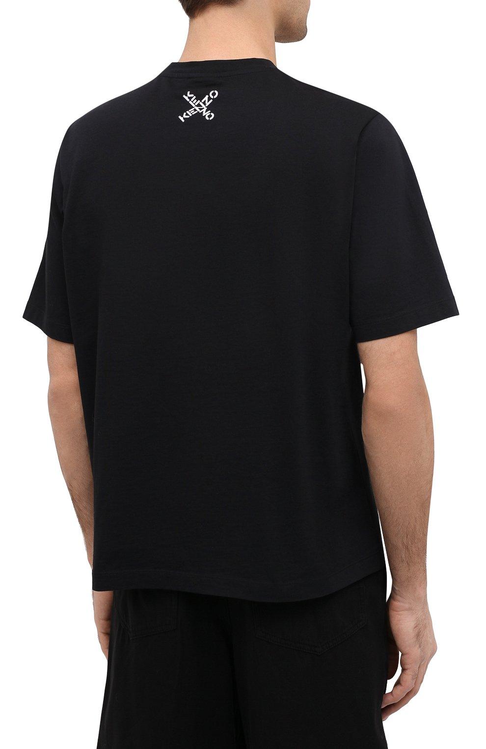 Мужская хлопковая футболка kenzo sport KENZO черного цвета, арт. FA65TS5024SJ | Фото 4 (Рукава: Короткие; Длина (для топов): Стандартные; Стили: Гранж, Спорт-шик; Принт: С принтом; Материал внешний: Хлопок)