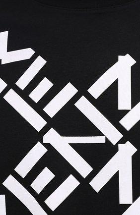 Мужская хлопковая футболка kenzo sport KENZO черного цвета, арт. FA65TS5024SJ | Фото 5 (Рукава: Короткие; Длина (для топов): Стандартные; Стили: Гранж, Спорт-шик; Принт: С принтом; Материал внешний: Хлопок)