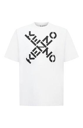 Мужская хлопковая футболка kenzo sport KENZO белого цвета, арт. FA65TS5024SJ | Фото 1