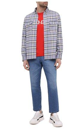 Мужская хлопковая футболка KENZO красного цвета, арт. FA65TS0004SJ | Фото 2