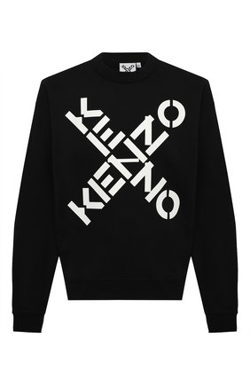 Мужской хлопковый свитшот kenzo sport KENZO черного цвета, арт. FA65SW5214MS | Фото 1